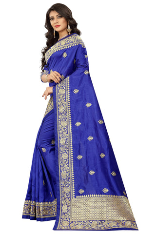 Navy Color Art Silk Saree - D.no-2403