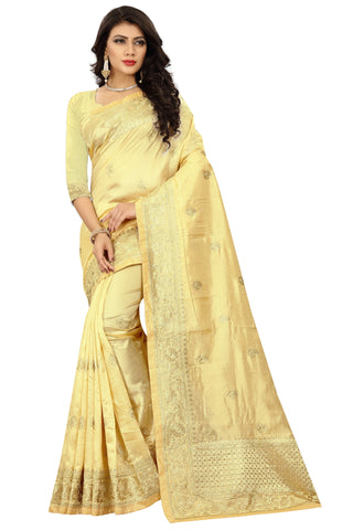 Beige Color Art Silk Saree - D.no-2404