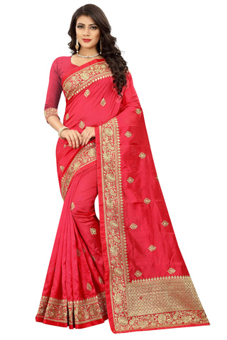 Pink Color Art Silk Saree - D.no-2408