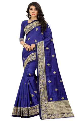 Navy Blue Color Art Silk Saree - D.no-2409
