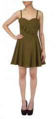 Buy Brown Color Creap Stitched Women Dress