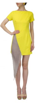 Yellow Color Creap Stitched Women Dress - D15