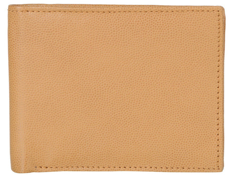 Tan Color Genuine Leather Mens Wallet - D509-TANRFID