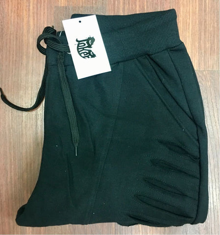 Dark Green Color Loop Net Track Pant  - DDTRK004