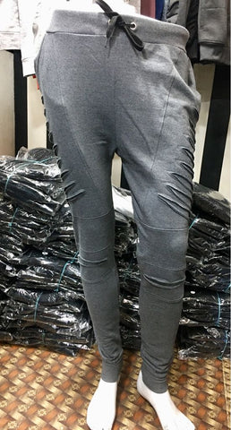 Grey Color Loop Net Track Pant  - DDTRK008