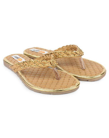 Beige Color Synthetic Sandal - DDWF-A-3-Beige
