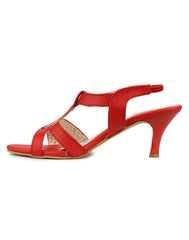 Red Color Synthetic Sandal - DDWF-B-40-RED