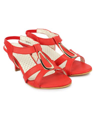 Buy Red Color Synthetic Sandal