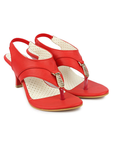 Red Color Synthetic Sandal - DDWF-B-41-Red