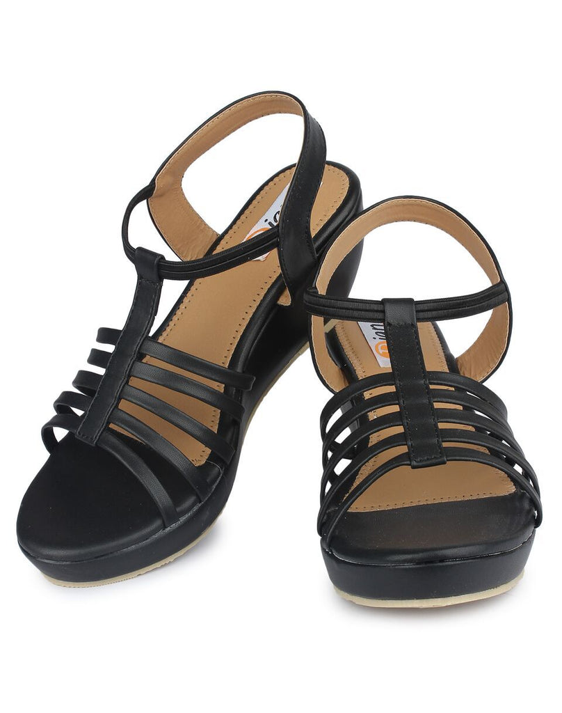 Black Color Nappa Leather Sandals