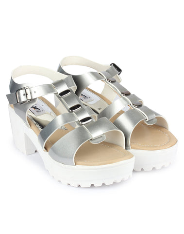 Silver Color Resin Sandal - DDWF-GA-01-Silver