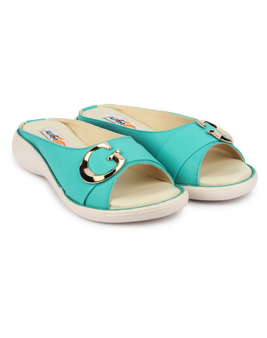 Green Color Synthetic Sandal - DDWF-GB-Green