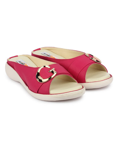 Pink Color Synthetic Sandal - DDWF-GB-PINK