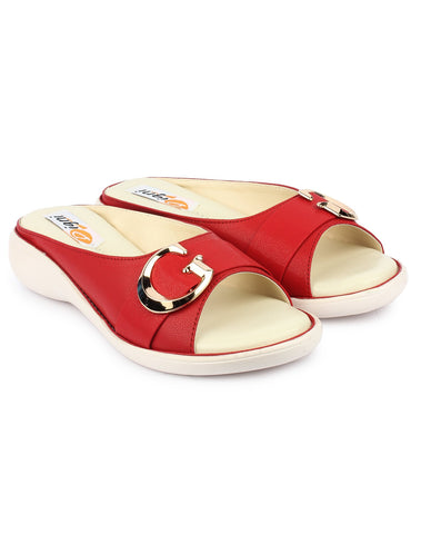 Red Color Synthetic Sandal - DDWF-GB-RED