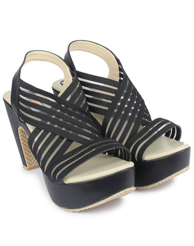 Black Color Resin Sandal - DDWF-R-5-BLACK