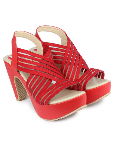 Red Color Resin Sandal - DDWF-R-5-Red