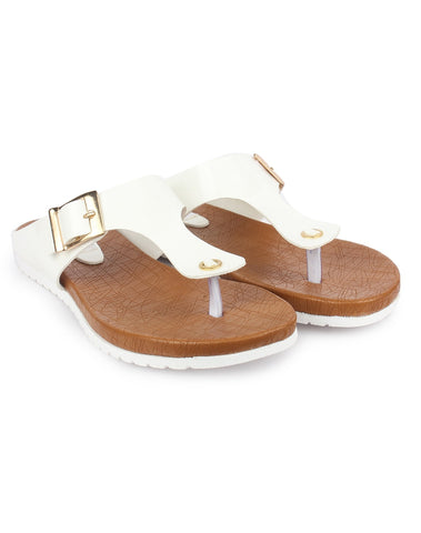 White Color Patent Leather Sandals - DDWF-R-50-WHITE