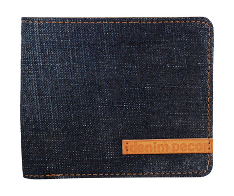 Blue Color Leather Mens Wallet - DENBLUE