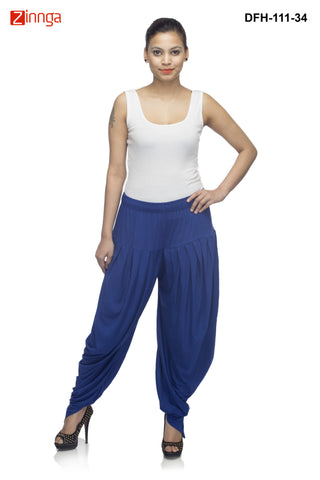 DEEFASHIONHOUSE-Women's Beautiful RoyalBlue Viscose Lycra Dhoti - DFH-111-34