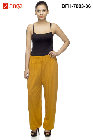 DEEFASHIONHOUSE-Women's Beautiful Golden Viscose Lycra HaremPants - DFH-7003-36