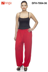 DEEFASHIONHOUSE-Women's Beautiful Red Viscose Lycra HaremPants - DFH-7004-36