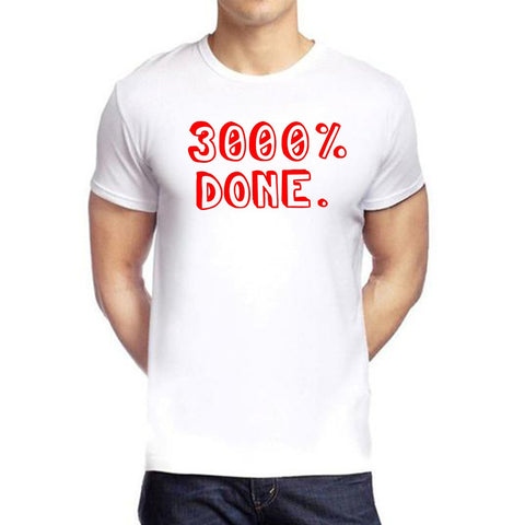 White Color polyester Men's Tshirt - DIGI5972