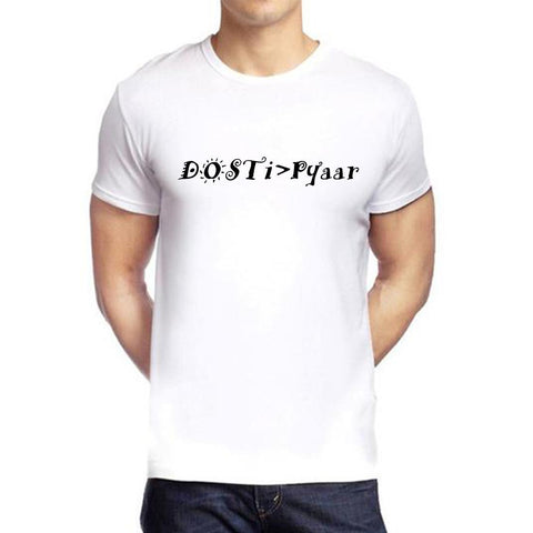 White Color polyester Men's Tshirt - DIGI6002