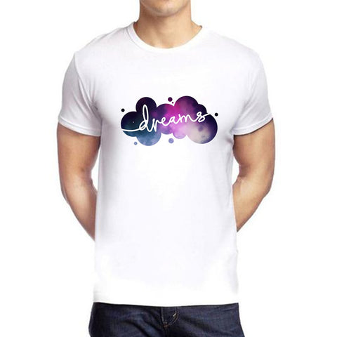 White Color polyester Men's Tshirt - DIGI6038