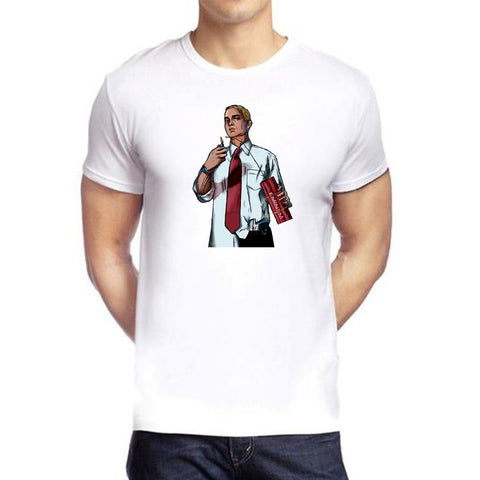 White Color polyester Men's Tshirt - DIGI6128