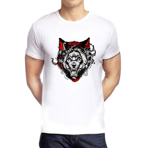 White Color polyester Men's Tshirt - DIGI6158