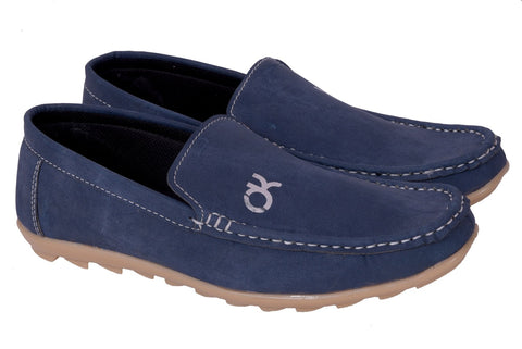 Blue Color Synthetic Loafers - DKBlue