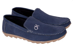 Buy Blue Color Synthetic Loafers