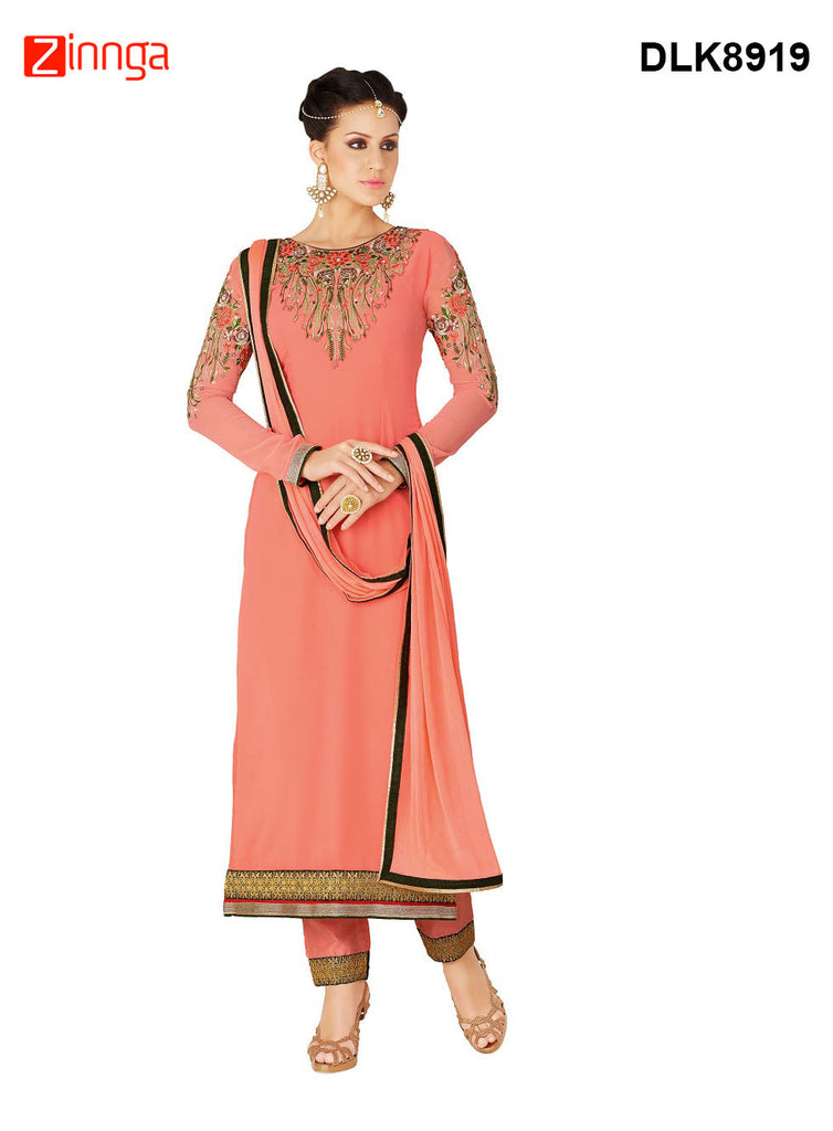 DREAMLIFESTYLE-Women's Beautiful Semi-stitched Salwar - DLK8919