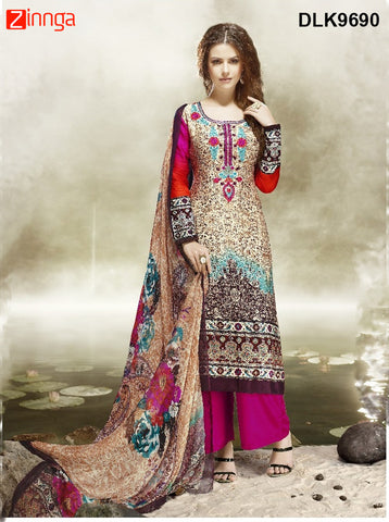DREAMLIFESTYLE-Women's Beautiful Semi-Stitched SalwarKameez - DLK9690