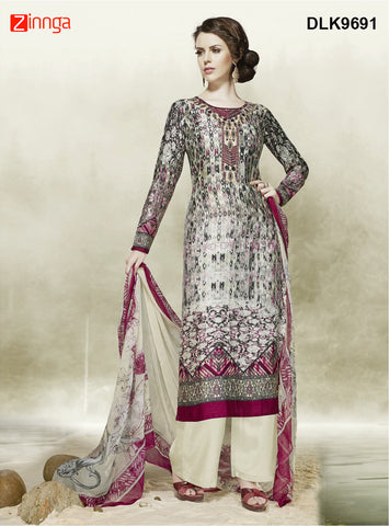 DREAMLIFESTYLE-Women's Beautiful Semi-Stitched SalwarKameez - DLK9691