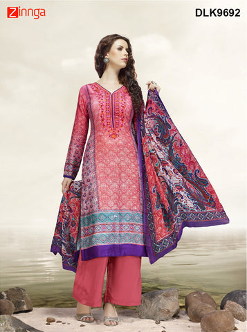 DREAMLIFESTYLE-Women's Beautiful Semi-Stitched SalwarKameez - DLK9692