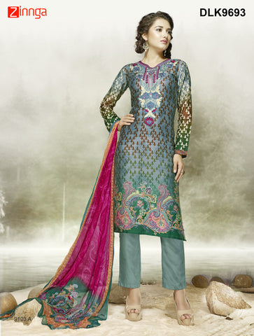 DREAMLIFESTYLE-Women's Beautiful Semi-Stitched SalwarKameez - DLK9693
