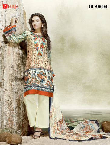 DREAMLIFESTYLE-Women's Beautiful Semi-Stitched SalwarKameez - DLK9694