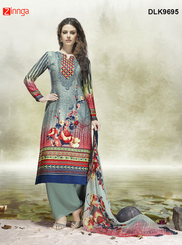 DREAMLIFESTYLE-Women's Beautiful Semi-Stitched SalwarKameez - DLK9695