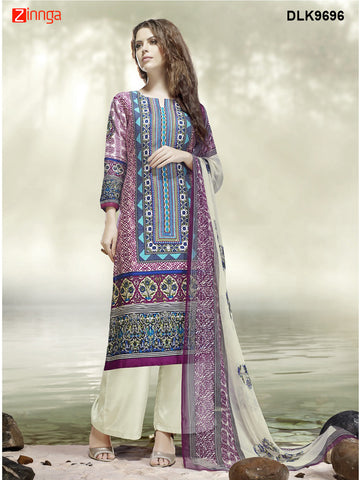 DREAMLIFESTYLE-Women's Beautiful Semi-Stitched SalwarKameez - DLK9696
