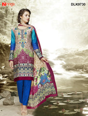 DREAMLIFESTYLE-Women's Beautiful Semi-Stitched Churidar - DLK9730