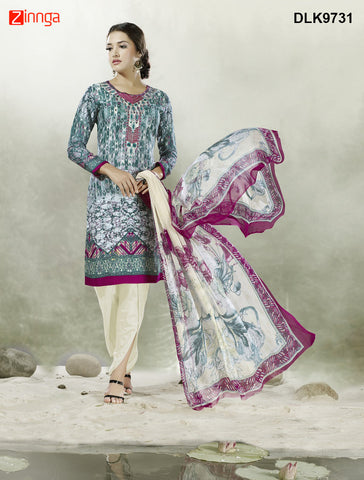 DREAMLIFESTYLE-Women's Beautiful Semi-Stitched Churidar - DLK9731