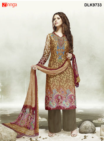 DREAMLIFESTYLE-Women's Beautiful Semi-Stitched Churidar - DLK9733