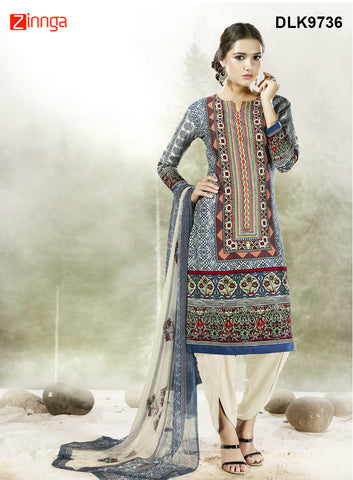 DREAMLIFESTYLE-Women's Beautiful Semi-Stitched Churidar - DLK9736