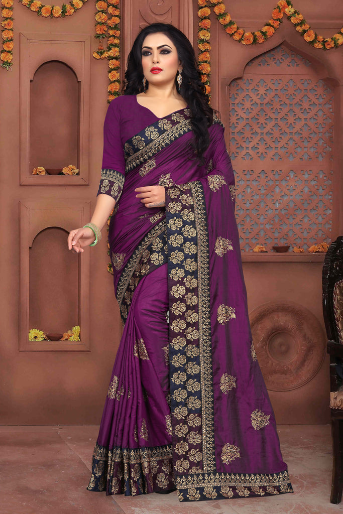 Buy Magenta Color Sana Silk Saree