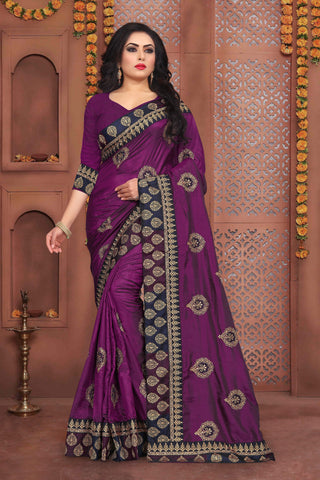 Magenta Color Sana Silk Saree - DNO-342