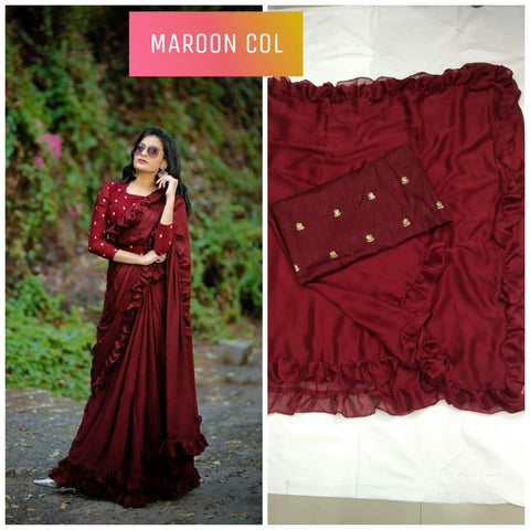 Maroon Color Banglori Silk Saree - DNO451-MAROON