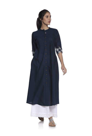 Blue Color Cotton Stitched Kurta - DNOV39