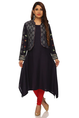 Blue Color Viscose Stitched Kurta - DNOV61