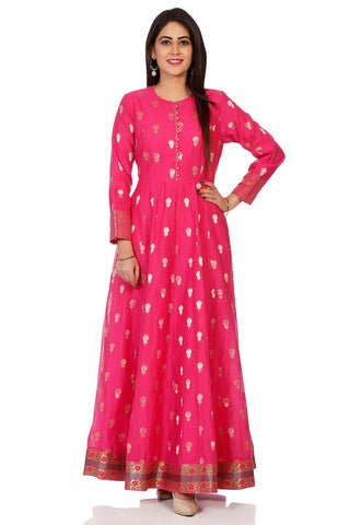 Pink Color Cotton Stitched Kurta - DNOV70